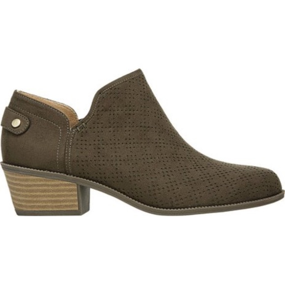 Dr. Scholl's Shoes - Bandit Ankle Bootie - Olive Green